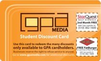 /student Discount Card